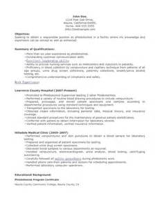 Phlebotomist Sample Resume phlebotomist resume sample 622