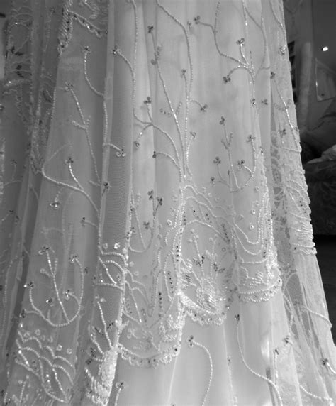 brides own wedding dress fabric schimmel