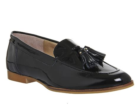 womens patent leather loafers womens office tassel loafers black patent leather flats