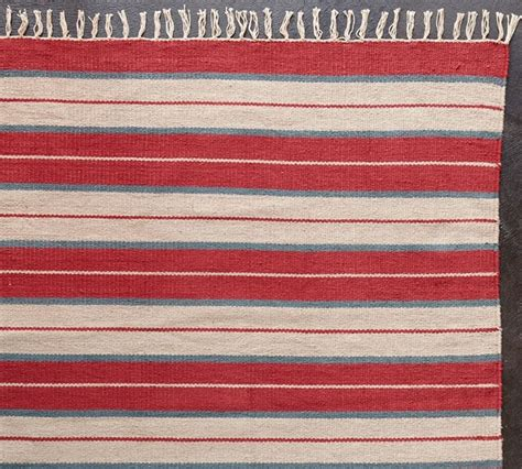 What Is A Dhurrie Rug by July Stripe Cotton Dhurrie Rug Traditional Novelty
