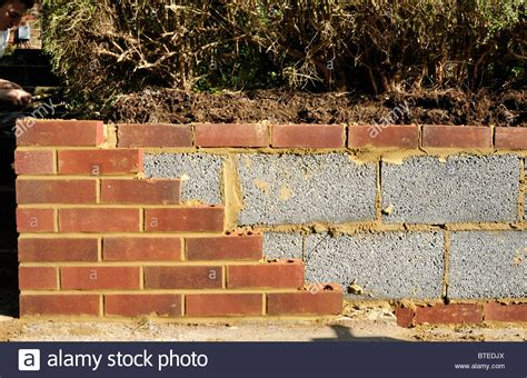 Garden Wall Brick New Garden Wall With Inner Concrete Blocks And Outer