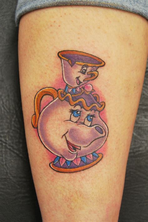 tattoos chips mrs potts chip and the beast