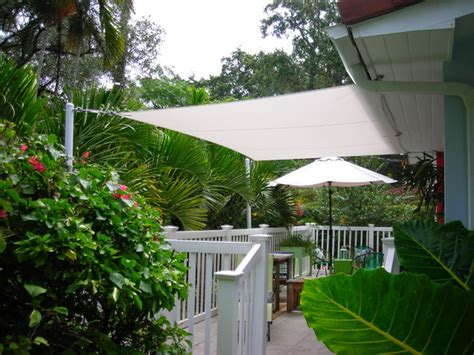 shade sails tropical patio miami by smart shade