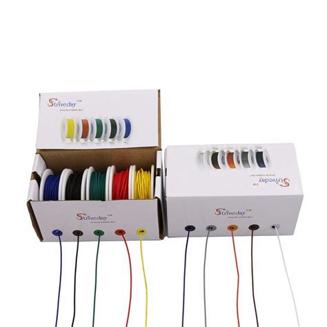 50m 28awg Silicone Wire Cable 5 Color Mix Package Box Ii 100m ul 1007 28awg 10 color mix box 1 box 2 package electrical wire cable line airline copper