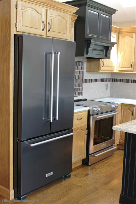 Black Kitchen Cabinets With Stainless Steel Appliances Black Kitchen Cabinets With Stainless Steel Appliances Black Granite With Oak Cabinets And