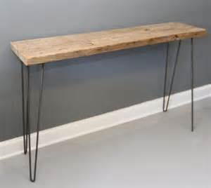 reclaimed wood console table w hairpin legs free