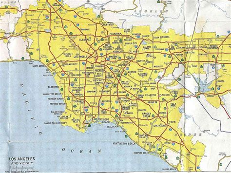 map of so california california map