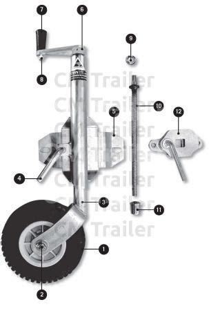 jockey wheels / machinery stands | cm trailer parts | new