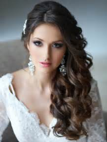 curly side hair super cute wedding side swept curly hairstyles 2015