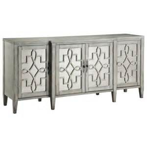 Mirror Credenza credenza 4 door mirror facing grey i high fashion home
