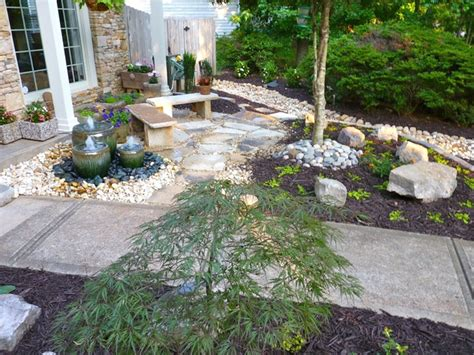 front yard water feature by outdoor makeover traditional landscape atlanta by outdoor