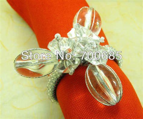 pearl napkin ring wholesale napkin rings beaded wedding