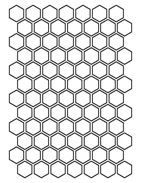 pattern outline 1 inch hexagon pattern use the printable outline for