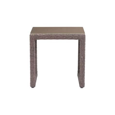 modern outdoor side table modern open weave outdoor side table shades of light