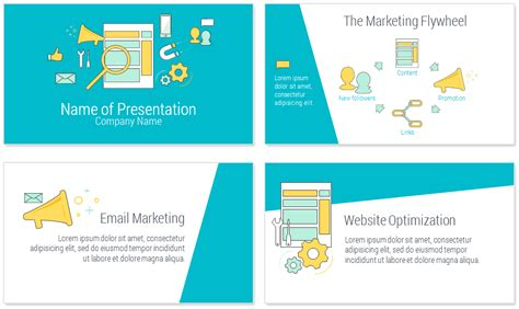 Online Marketing Powerpoint Template Presentationdeck Com Advertising Presentation Templates