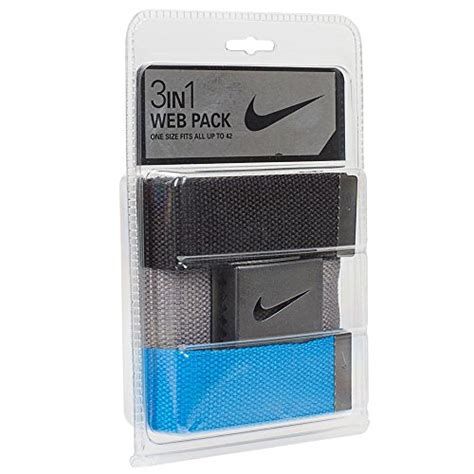 Pl Cp Three Black nike golf 3 in 1 web pack belt one size white khaki black