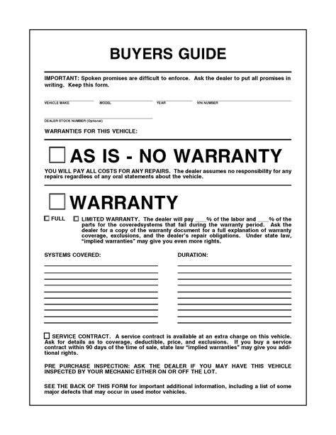as is warranty form car as is no warranty form car pictures car