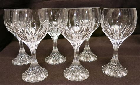 baccarat crystal barware igavel auctions set of baccarat crystal wine glasses french l4cl