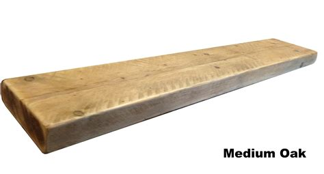 reclaimed solid floating shelf