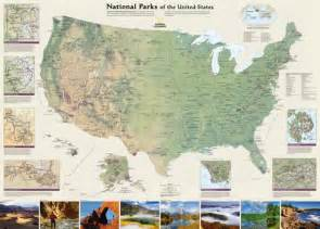 Map Of All National Parks In The United States by National Geographic United States National Parks Print At
