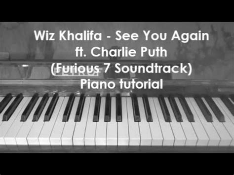 tutorial piano when i see you again see you again wiz khalifa ft charlie puth tutorial