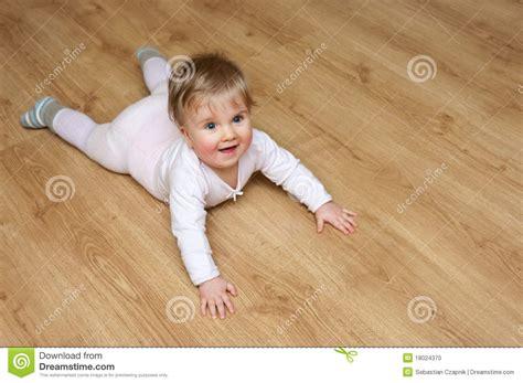 Baby Floor by Baby On Wooden Floor Stock Photo Image 18024370