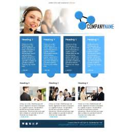 e newsletter templates email template call center operator blue free