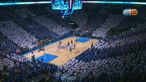 in color okc oklahoma city thunder fans perfectly color coordinated