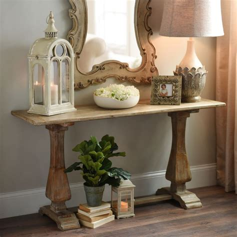 Distressed Entryway Table Distressed Pedestal Console Table Foyer Paint Entryway And Entryway Tables