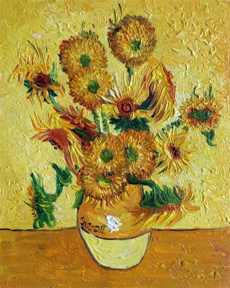 Vase With Fifteen Sunflowers by Vase With Fifteen Sunflowers