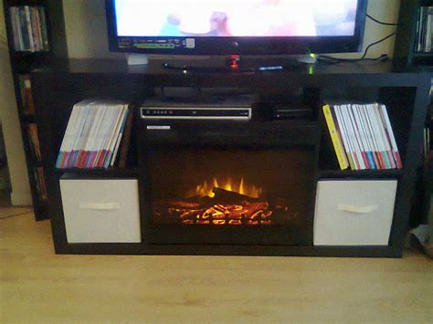 ikea fireplace hack ikea expedit 4x2 turned fireplace media console ikea