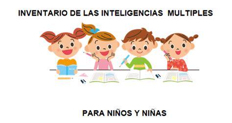 inteligencias multiples inventario o test para ni 209 os y