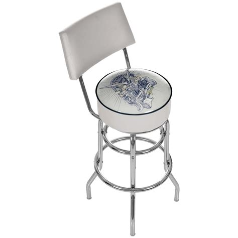 Fender Bar Stool With Back by Fender Salvation Padded Bar Stool With Back 424827 At