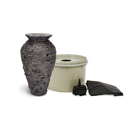 small stacked slate urn fountain kit aquascape