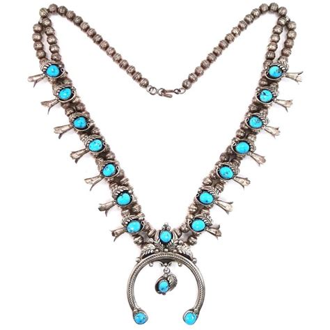 navajo turquoise squash blossom necklace caymancode