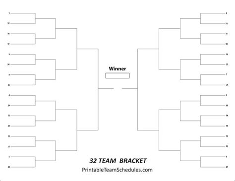 tournament brackets template 8 best images about tournament brackets free printable