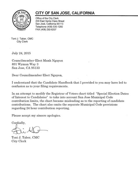 Apology Letter Format For Office Manh Nguyen Gets His Apology From City Affairs