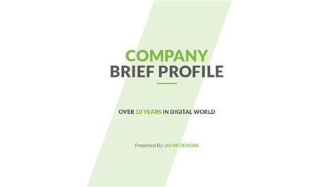 company profile powerpoint template by jafardesigns