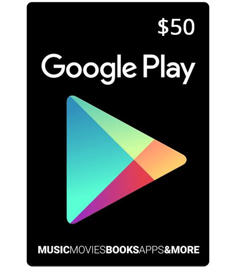Google Play 50 Gift Card - google play card 50 us email delivery mygiftcardsupply