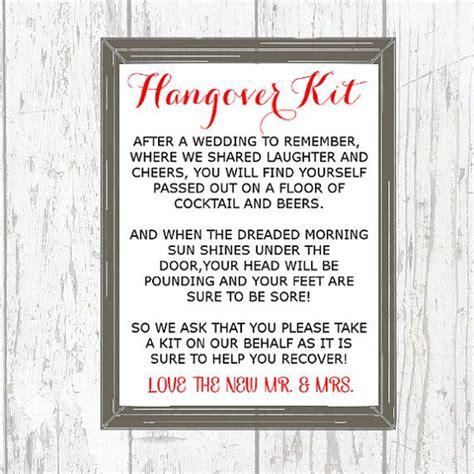 printable hangover kit tags wedding hangover kit sign printable hangover by