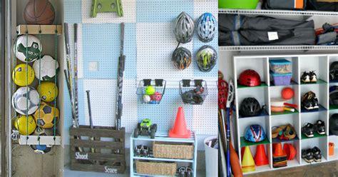 Garage Organization Ideas Sports Equipment 6 Amazing Sports Equipment Storage Ideas That Will