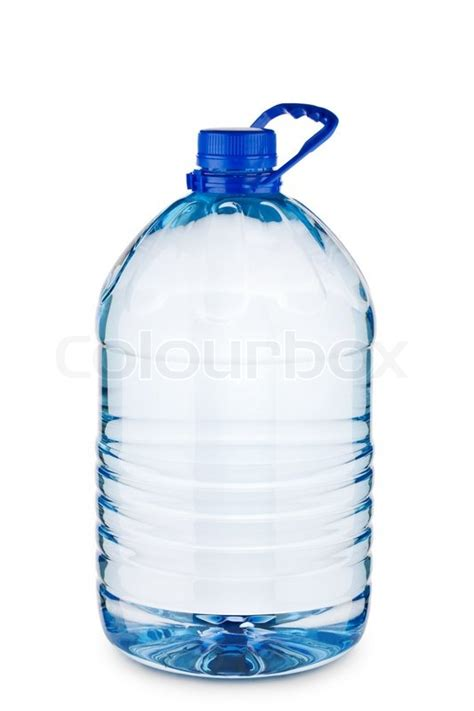 Blue Big Bottle big blue bottle with water isolated stock photo colourbox