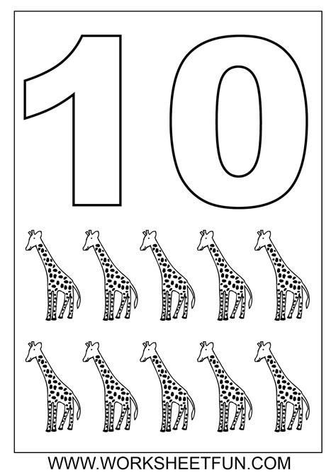 coloring pages for numbers 1 10 bir d 252 nya zeynep sayı boyama sayfaları number