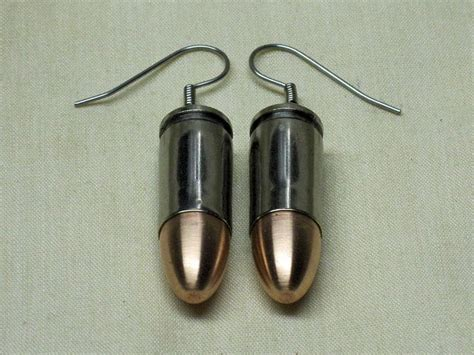 a well dressed bullet 9mm luger bullet earrings
