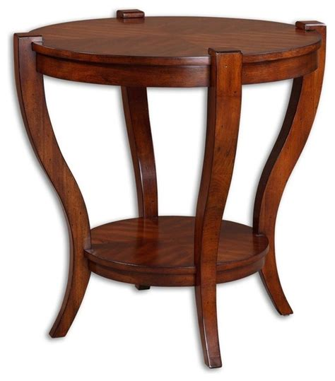 uttermost 25664 axelle wooden drum accent table uttermost bergman round end table transitional side