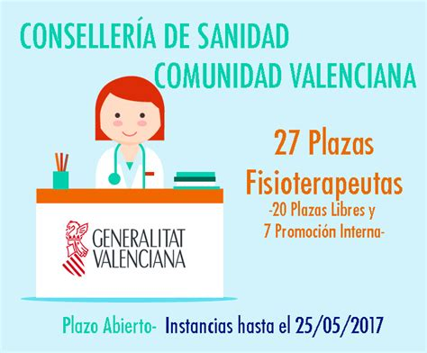 convocatorias comunidad valenciana 2016 i 2017 sanidad comunidad valenciana fisioterapeutas grupo venfor