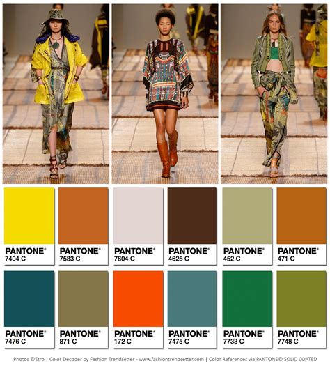 2017 color trends fashion etro spring summer 2017 collection color codes fashion