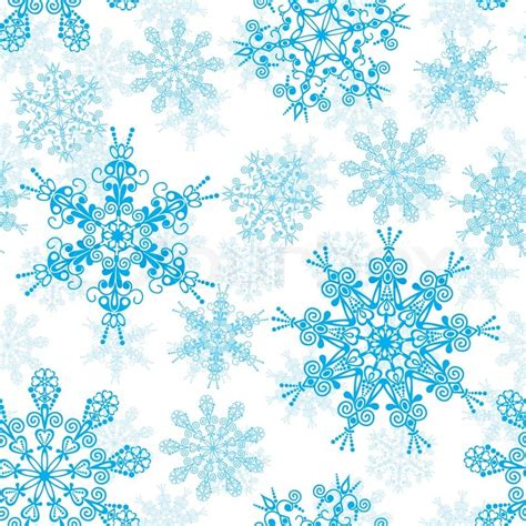 printable blue snowflakes snevejr sne vinter stock vektor colourbox