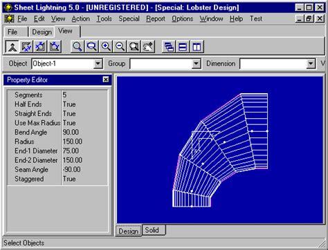 lobster back bend sheet metal specialized cad design and unfolding for sheet metal