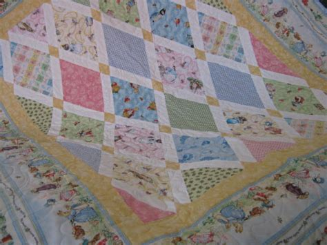 Rabbit Quilt Pattern by Baby Quilt With Rabbit And Friends Felt